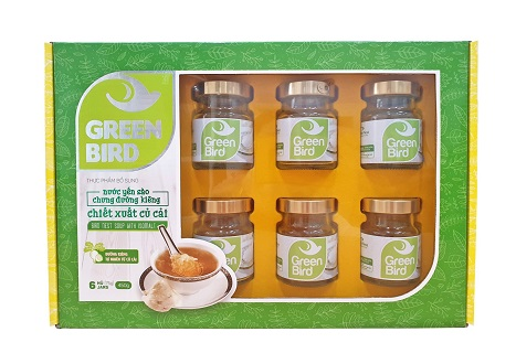 Nước yến chưng đường ăn kiêng Green Bird  - 6 hũ 75gr
